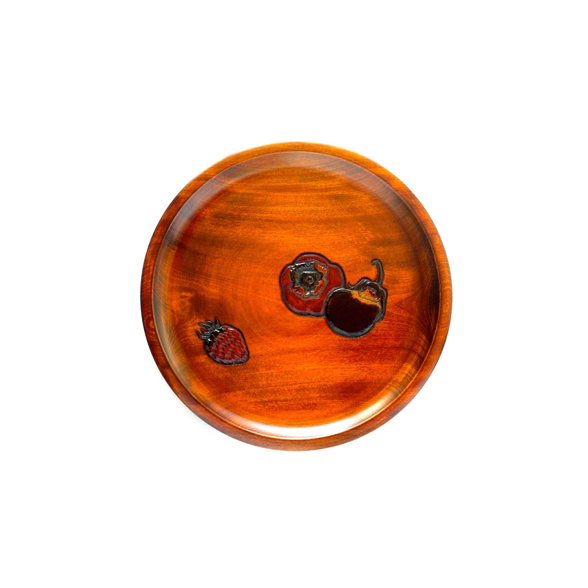 皿盆8寸柿